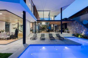 St-Leon-Villa-Bantry-Bay-pool-at-night